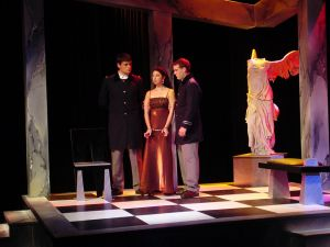 Antigone is brought in by the guards.