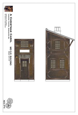 Painter's elevation of the Mid SR unit provided by the scenic designer.