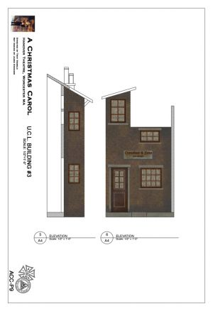 Painter's elevation of the UCL unit provided by the scenic designer